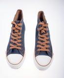 Denim sneakers Stock Photography