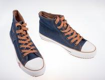 Denim sneakers Royalty Free Stock Image