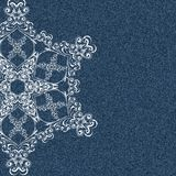 Denim snowflake Stock Photo