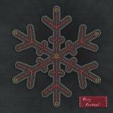 Denim snowflake Royalty Free Stock Photos