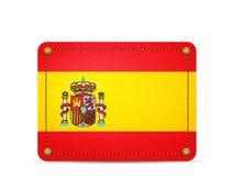 Denim Spain flag Stock Images