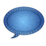 Denim Speech Bubble Royalty Free Stock Photography
