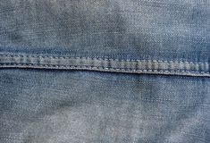 Denim Stiching Royalty Free Stock Photography