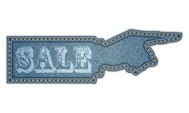 Denim sticker.  Sale. Vector eps10 Royalty Free Stock Image