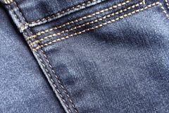 Denim stitching detail Stock Images
