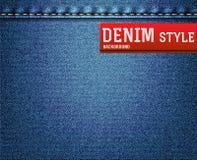 Denim, struttura dei jeans Fotografia Stock Libera da Diritti