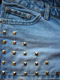 Denim & Studs Stock Photography