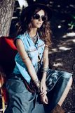 Western denim style royalty free stock images