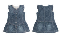 Denim sundress for girls isolated Stock Photos