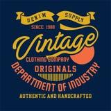 Denim supply vintage clothing company Stock Photography