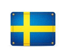 Denim Sweden flag Stock Image