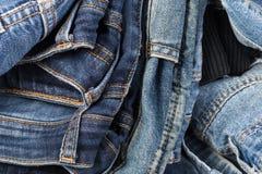 denim t?t jeans skjuten textur upp tillbaka bakgrundsjeansfack arkivbild