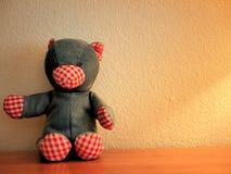 Denim Teddy Bear de peluche Photos libres de droits