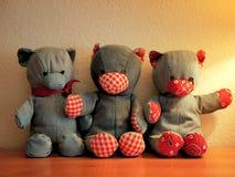 Denim Teddy Bears Stuffed Animals Photos stock