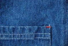 Denim textielachtergrond Stock Foto
