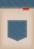 Denim Textile Template Stock Photos