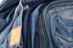 denim Textura de los pantalones vaqueros Fondo de los pantalones vaqueros imágenes de archivo libres de regalías