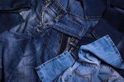 denim Textura de pantalones vaqueros fotografía de archivo