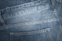 Denim texture or back of jean trouser for background Royalty Free Stock Photos