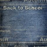 Denim texture with Back to School background Royalty Free Stock Photography