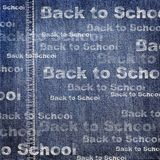 Denim texture with Back to School Background Royalty Free Stock Photos