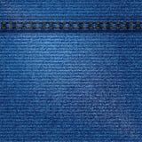 Denim texture background. Blue denim texture background with seams, illustration Stock Photo