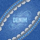 Denim texture background Royalty Free Stock Photos