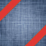 Denim texture with label ribbon. Vector Royalty Free Stock Photo