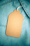 Denim texture with paper jeans tag Stock Image