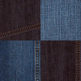 Denim texture set Royalty Free Stock Images