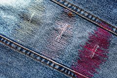 Denim texture with stripe Stock Images