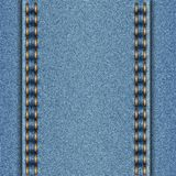 Denim texture with two parallel seams. Vector illustration Royalty Free Stock Photography
