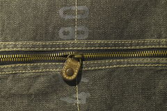 Denim texture with zipper Royalty Free Stock Photo
