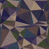 Denim with triangles of different colors. Royalty Free Stock Photos