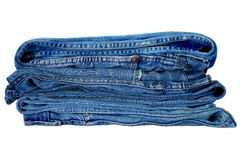 Denim Trousers. Arranged one on second Royalty Free Stock Photos