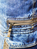 Denim trousers with patch pockets with zip Royalty Free Stock Photography