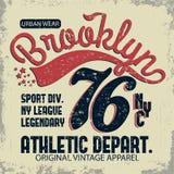 Denim typography, t-shirt graphics Royalty Free Stock Photo