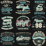 Denim typography, t-shirt graphics Royalty Free Stock Image