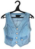 Denim vest isolated Royalty Free Stock Images