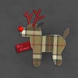 Denim-Weihnachtsren Stockfoto