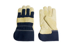 Denim Work Gloves Royalty Free Stock Images