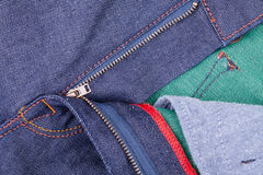 Denim zipper Stock Image