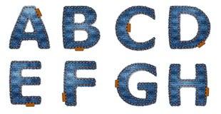denimbokstäver royaltyfri illustrationer