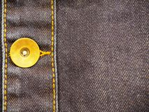 Denimpunt met knoopclose-up, als achtergrond stock afbeeldingen