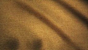 Denimstof het geweven beige fladderen Geanimeerde beweging van het canvas De golven van het materiaal stock video