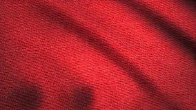 Denimstof het geweven rode fladderen Geanimeerde beweging van het canvas De golven van het materiaal royalty-vrije illustratie