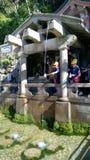Deningen-taki vattenfallet på den Kiyomizu templet Royaltyfri Foto