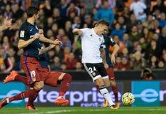 Denis Cheryshev. Of Valencia Club de Futbol scored the first goal for Valencia during the La Liga match at Mestalla, Valencia Stock Image