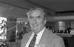 Denis Healey. Former Chancellor of the Exchequer & Labour party Member of Parliament for Leeds East, visits the party conference in Brighton on October 1, 1991 Stock Photography