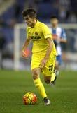 Denis Suarez de los CF de Villareal Foto de archivo libre de regalías